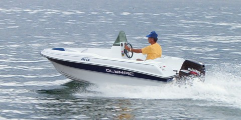 Olympic Boats 400 CC - Center console motorboat for extra fun in the seas!