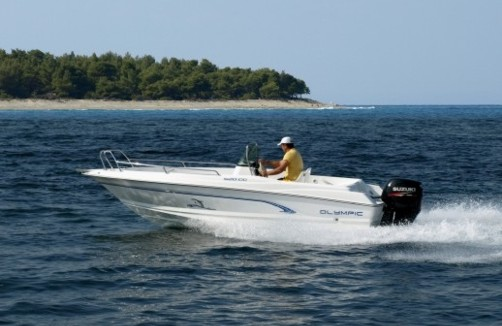 Olympic Boats 520 CC - center console open motorboat, featuring modern design and perfect fiberglass finish